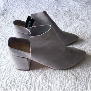 ✨ NEW! Express Gray Backless Booties
